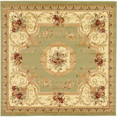 Crainville Green/Brown Area Rug Rug Size: Square 8'