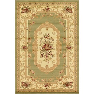 Crainville Green/Brown Area Rug Rug Size: 6' x 9'