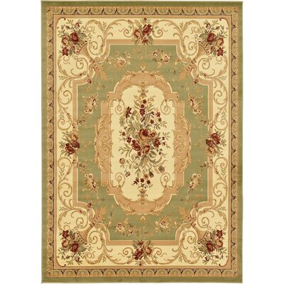 Crainville Green/Brown Area Rug Rug Size: 8' x 11'4