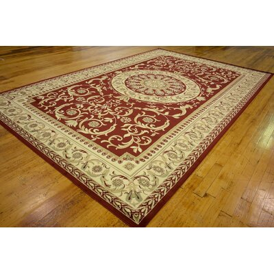 Oskar Red Area Rug