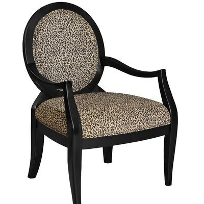 Lucinda Leopard Fabric Arm Chair
