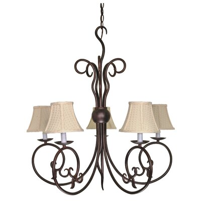 Sandia 5-Light Shaded Chandelier