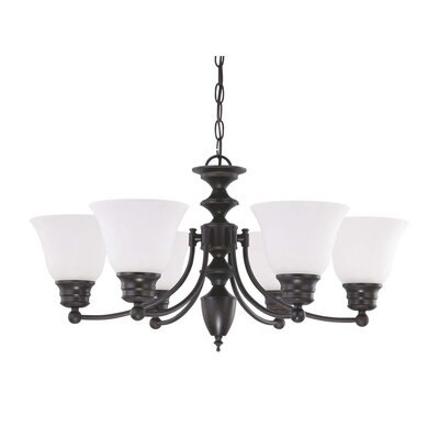 Poneto 6-Light Shaded Chandelier Energy Star: No