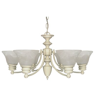 Poneto 6-Light Shaded Chandelier