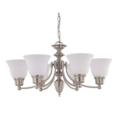 Poneto 6-Light Shaded Chandelier Energy Star: Yes