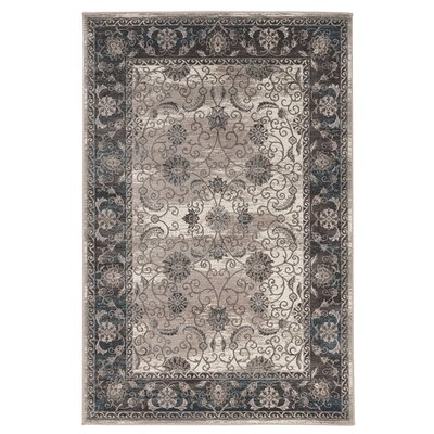 Adair Gray/Beige Area Rug Rug Size: Rectangle 5 x 76
