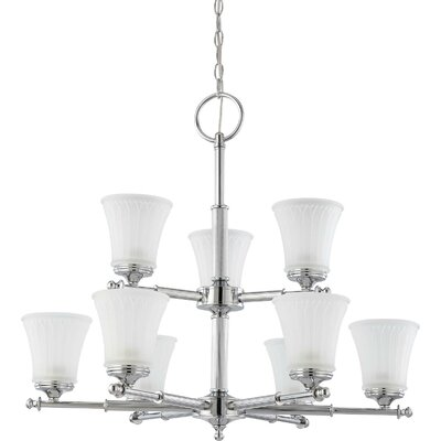 Hinde 9-Light Shaded Chandelier Finish: Polished Chrome