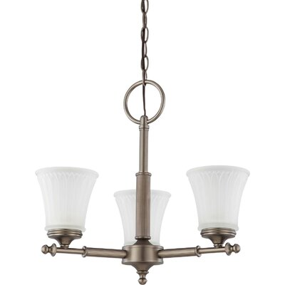 Hinde 3-Light Shaded Chandelier Finish: Aged Pewter