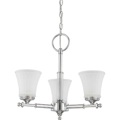 Hinde 3-Light Shaded Chandelier Finish: Polished Chrome