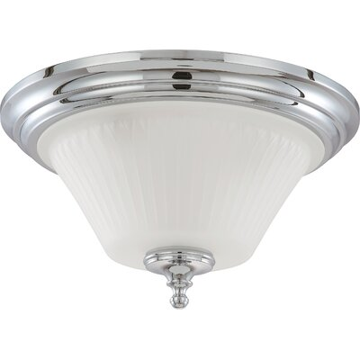 Hinde Flush Mount Size: 8.5 H x 15 W, Finish: Polished Chrome