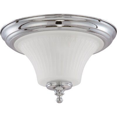 Hinde Flush Mount Size: 8.25 H x 13.25 W, Finish: Polished Chrome