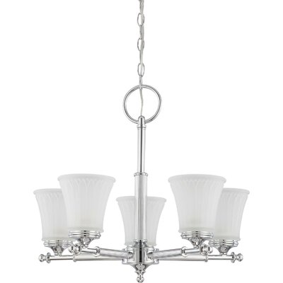 Hinde 5-Light Shaded Chandelier Finish: Polished Chrome