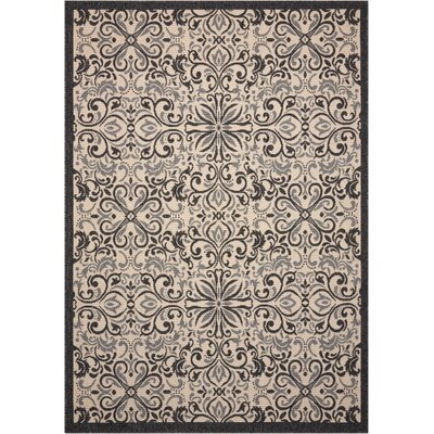 Ashby Ivory/Charcoal Indoor/Outdoor Area Rug
