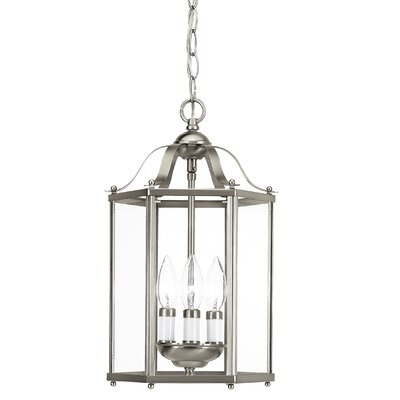 Pinecrest 3-Light Foyer Pendant Finish: Brushed Nickel
