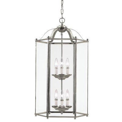 Pinecrest 6-Light Foyer Pendant Finish: Brushed Nickel
