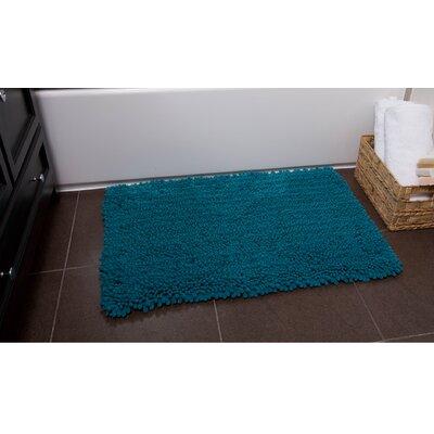 Ardent Bath Rug Color: Aqua, Size: 21 x 34