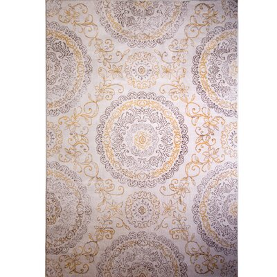 Arend Purple/Gold Area Rug Rug Size: Rectangle 53 x 72