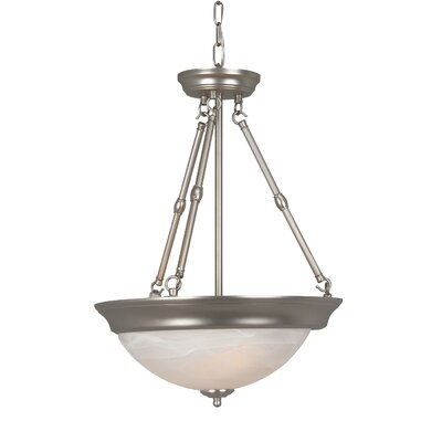 Argenziano 3-Light Inverted Pendant Finish: Brushed Nickel, Bulb Type: GU24