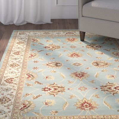Silvera Blue & Ivory Persian Area Rug