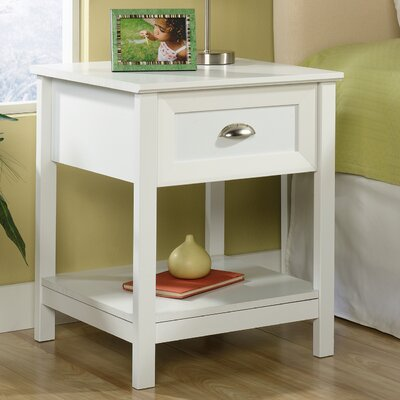 Arias 1 Drawer Nightstand Finish: White