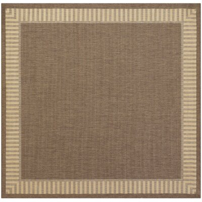 Westlund Wicker Stitch Cocoa/Natural Indoor/Outdoor Area Rug Rug Size: Square 86