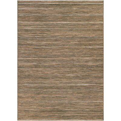 Gillenwater Brown/Ivory Indoor/Outdoor Area Rug Rug Size: 53 x 76