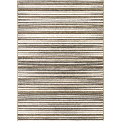 Holdren Light Brown/Ivory Area Rug Rug Size: Rectangle 53 x 76