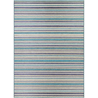 Holdren Cobalt/Teal Indoor/Outdoor Area Rug Rug Size: Rectangle 53 x 76