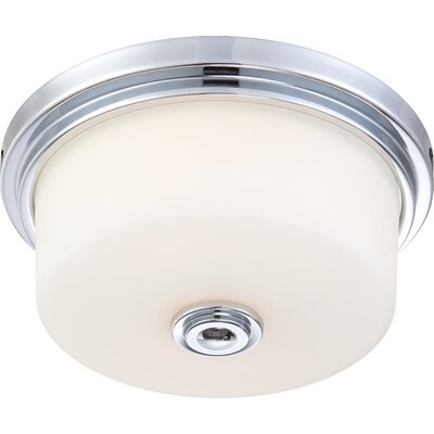 Flush Mount Ceiling Light, Polished Chrome