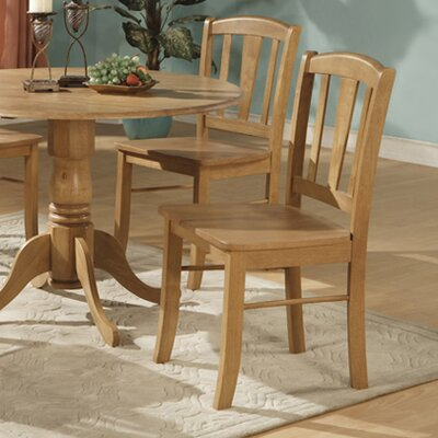 Gloucester Solid Wood Dining Chair (Set of 2) Finish: Oak