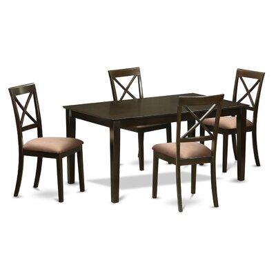 Smyrna Microfiber Upholstery 5 Piece Dining Set