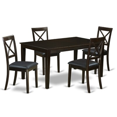 Smyrna Faux Leather 5 Piece Dining Set