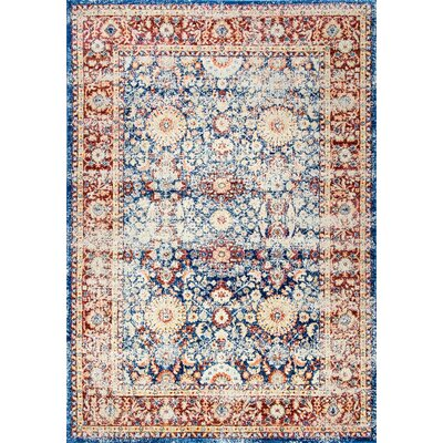 Melville Blue Area Rug Rug Size: Rectangle 53 x 79