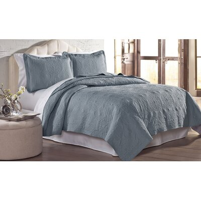 Mackay Quilt Set Size: King, Color: Slate