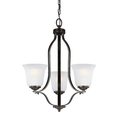 Elsa 100W 3-Light Mini Chandelier Finish: Heirloom Bronze