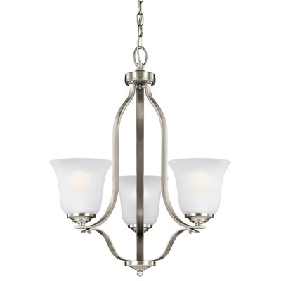 Elsa 100W 3-Light Mini Chandelier Finish: Brushed Nickel