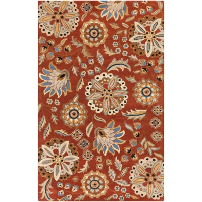 Millwood Hand-Tufted Burnt Orange Area Rug Rug size: Rectangle 6 x 9