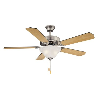 52 Garrett 5-Blade Ceiling Fan Finish: Satin Nickel