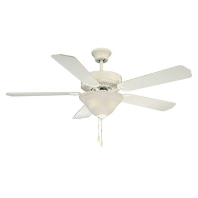 52 Garrett 5-Blade Ceiling Fan Finish: White