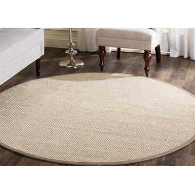 Monadnock Marble/Khaki Area Rug Rug Size: Round 4
