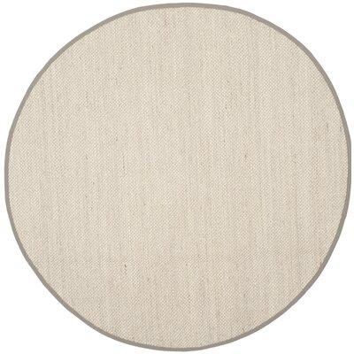 Monadnock Marble/Khaki Area Rug Rug Size: Round 10