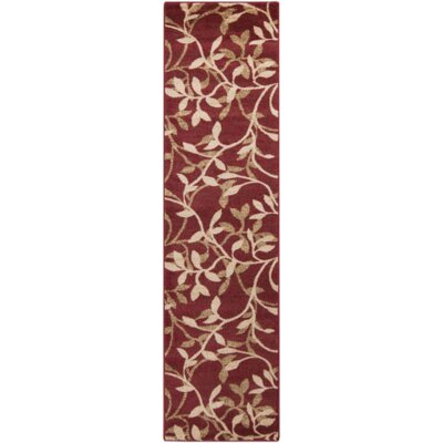 Gaskins Red Area Rug Rug Size: Runner 2 x 75