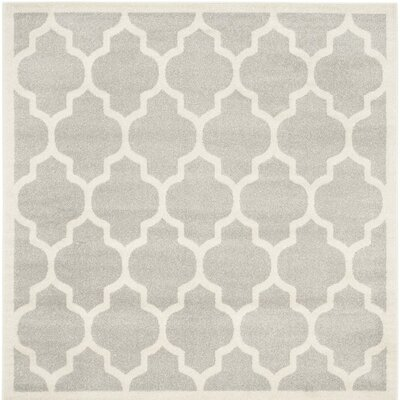 Carman Gray/Beige Indoor/Outdoor Area Rug Rug Size: Square 7