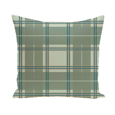 Abbot Plaid Geometric Print Outdoor Pillow Color: Herb Green, Size: 18 H x 18 W x 1 D