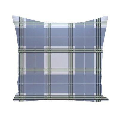 Abbot Plaid Geometric Print Outdoor Pillow Size: 18 H x 18 W x 1 D, Color: Cadet