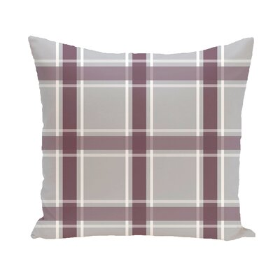 Abigail Applesauce Geometric Print Outdoor Pillow Color: Bordeaux, Size: 16 H x 16 W x 1 D