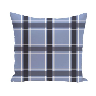 Abigail Applesauce Geometric Print Outdoor Pillow Color: Cornflower, Size: 18 H x 18 W x 1 D