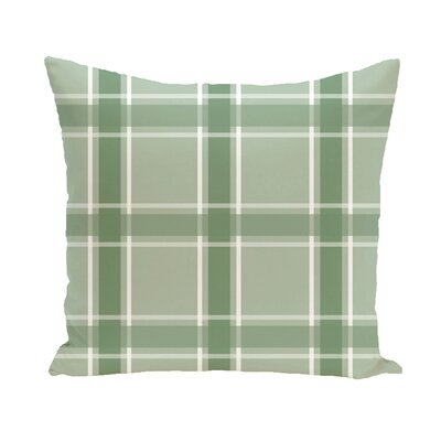 Abigail Applesauce Geometric Print Outdoor Pillow Color: Pale Celery, Size: 16