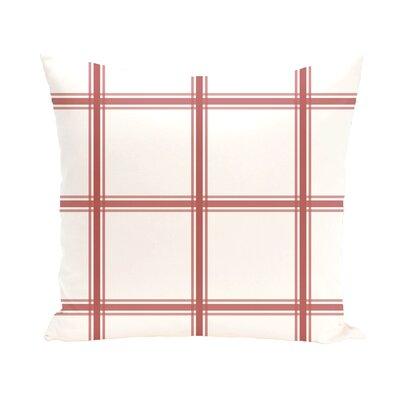 Abraham Geometric Print Outdoor Pillow Size: 20 H x 20 W x 1 D, Color: Burnt
