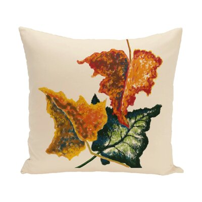 Adele Flower Print Throw Pillow Size: 16